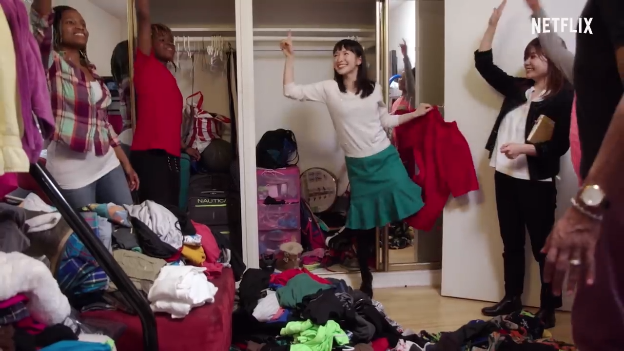 Marie Kondo, the star of Netflix's new show 'Tidying up with Marie Kondo'. Image: Netflix.