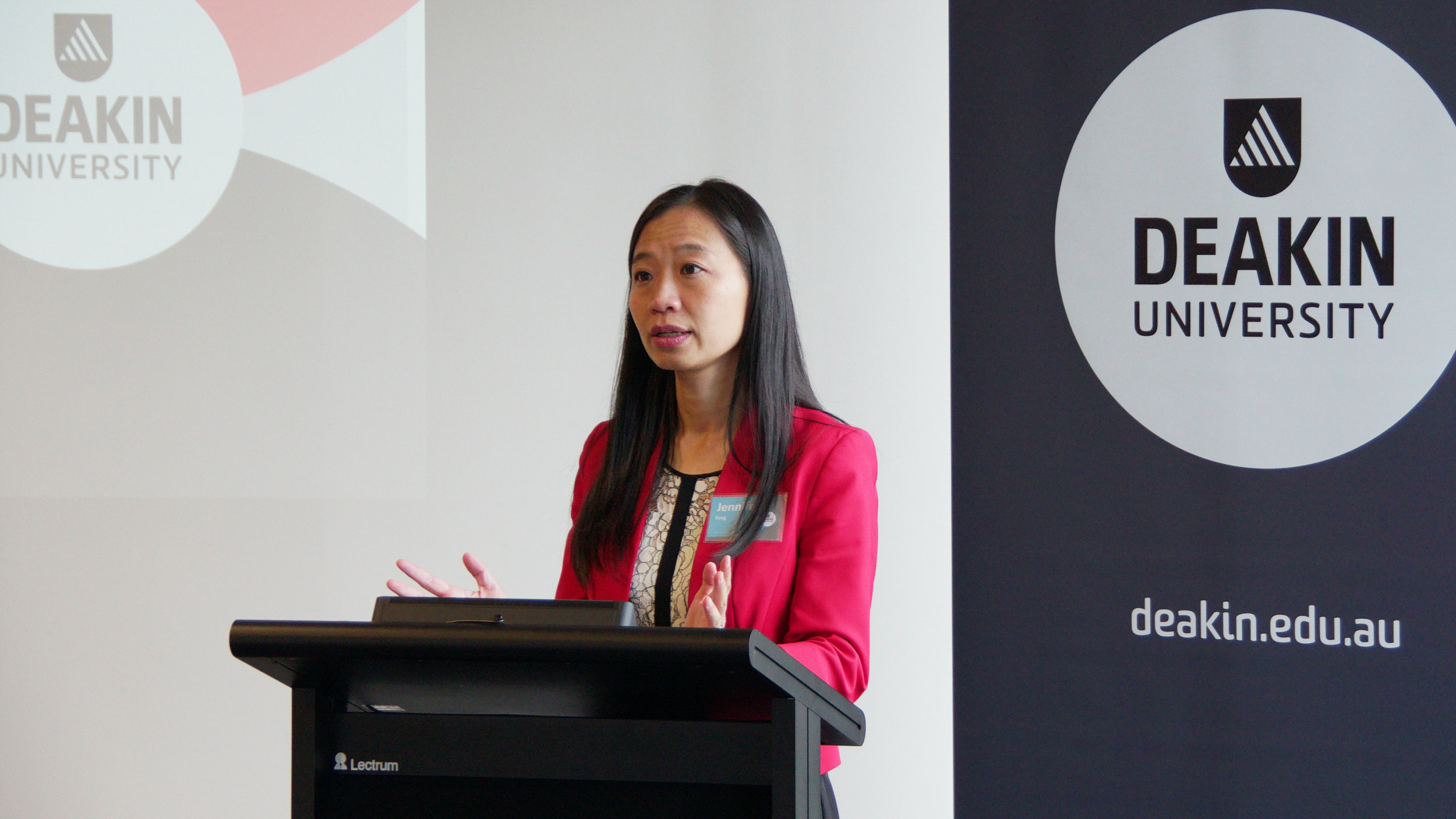 The Deakin Burwood campus sits in the Federal electorate of Chisholm, currently held by Independent MP Julia Banks, and being contested by ALP candidate Jennifer Yang (above).