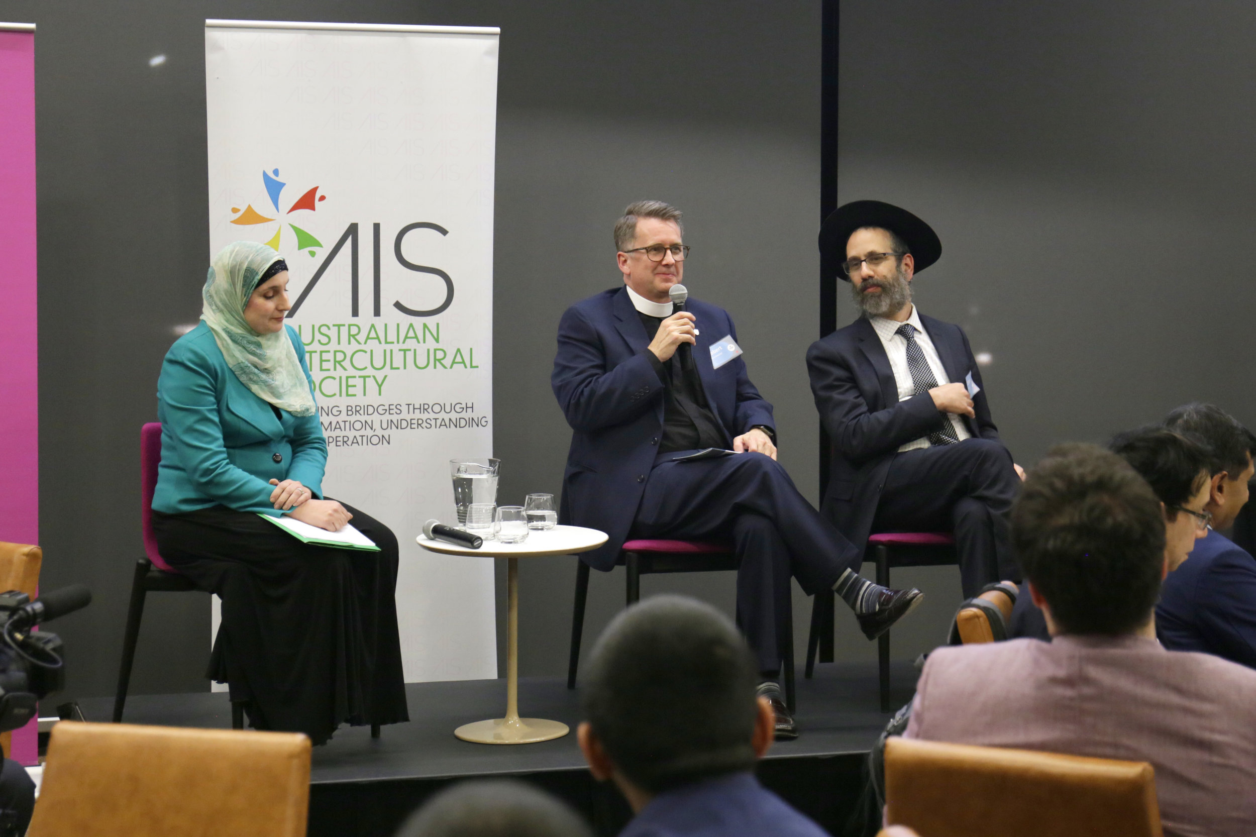 Mrs Sherene Hassan, Rabbi Zalman Kastel and The Reverend Dr Robert Derrenbacker