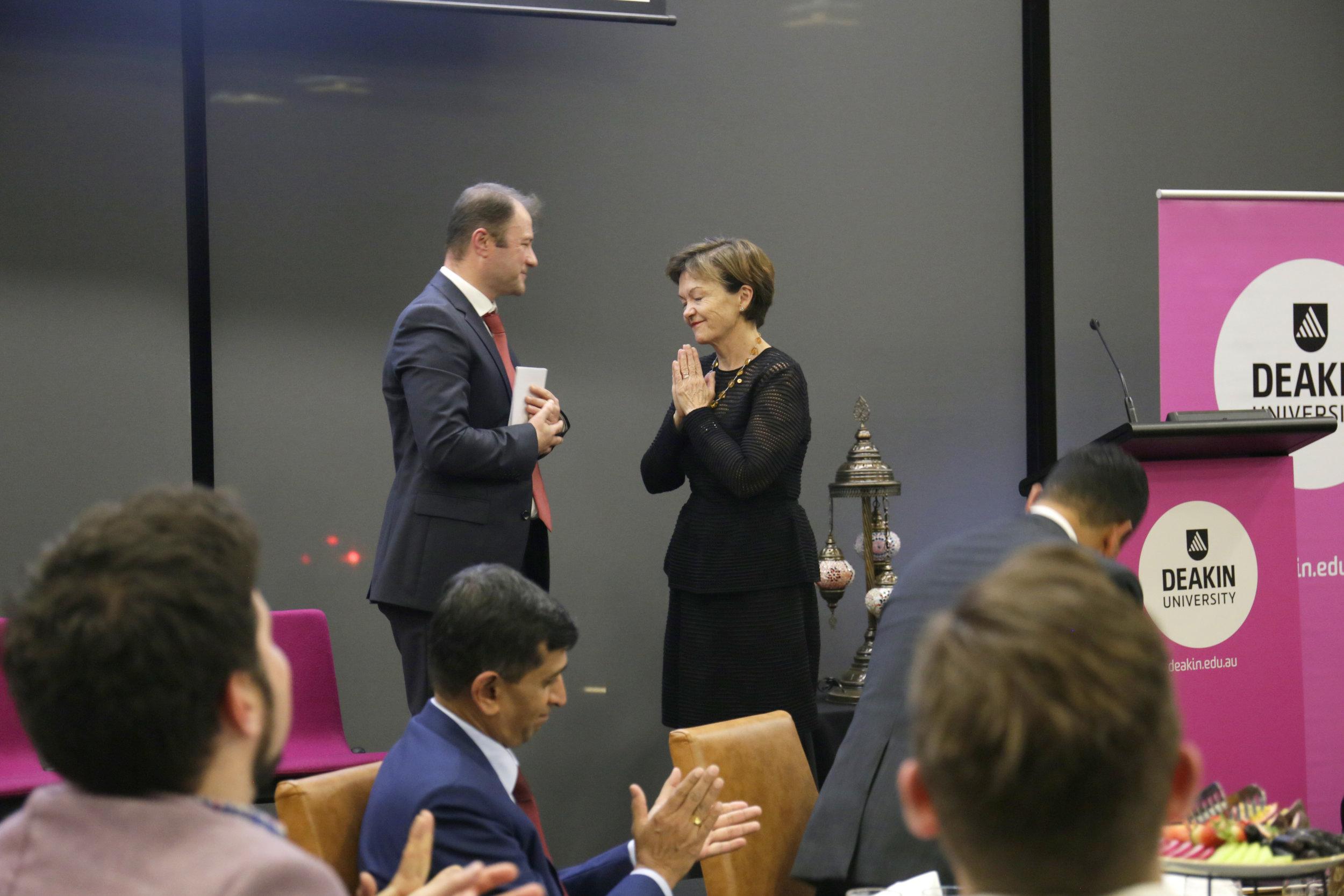 Mr Ahmet Keskin and Professor Jane den Hollander