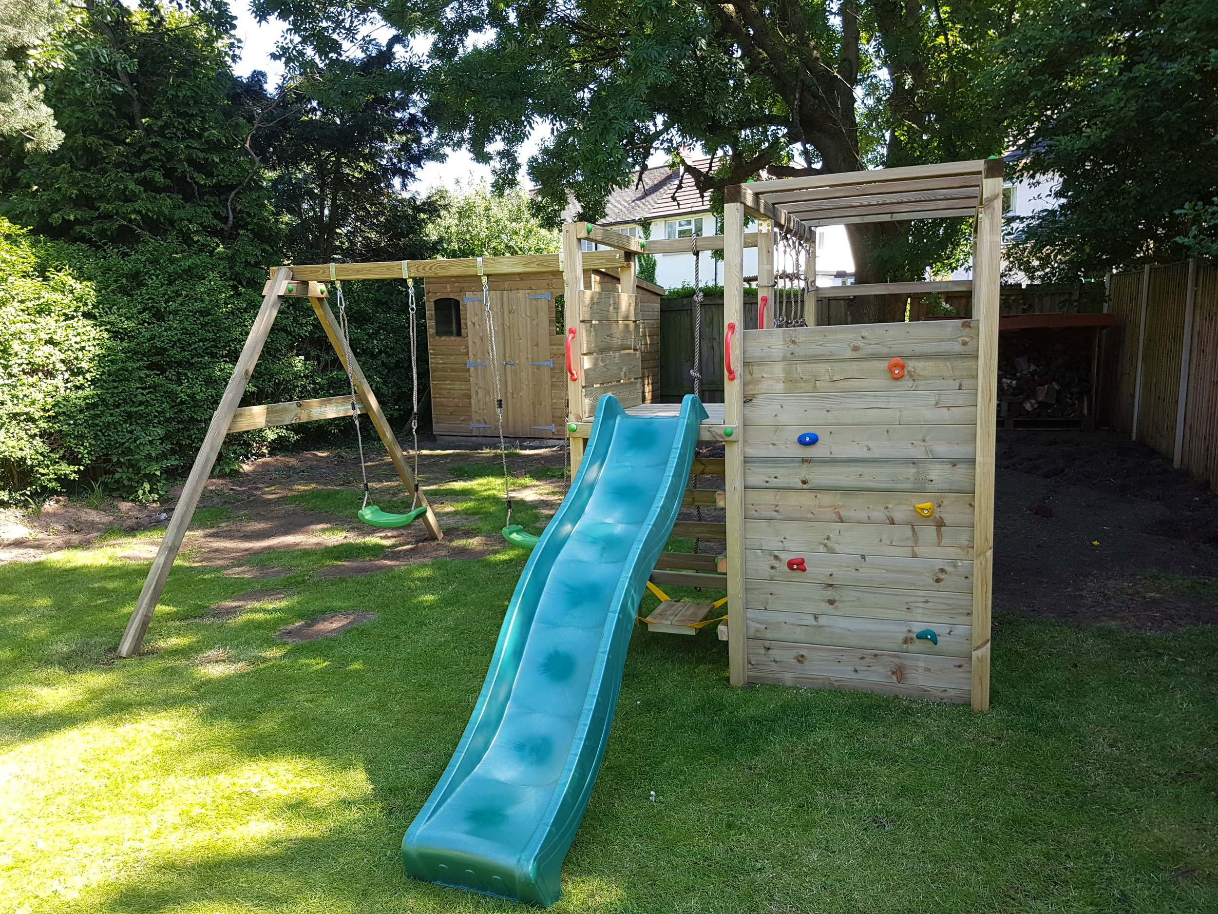 Thank You. - Arrived on time and worked hard all day. I am very happy with the end result and would definitely recommend them. My daughter was made up when she saw her climbing frame. Thank you.