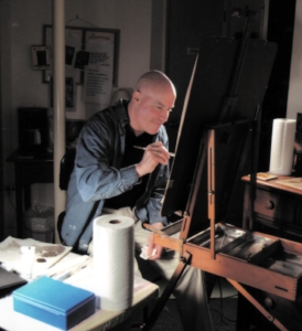 Bio - As a visual artist, Alan paints mostly abstracts, and will occasionally throw in some still life and plein air landscapes.Alan has been creating art since he was a small child (many children are small). His first painting was