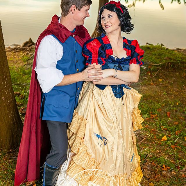 Charm the princess and ride off into the sunset with this dashing Prince Charming ensemble! This sturdy, solid blue vest (featuring pockets for your treasures!) will remain bright and heroic through your travels and battles. #silverleafcostumes #prince #disney #princecharming #handmadecostumes #costumes #renaissance #victorian