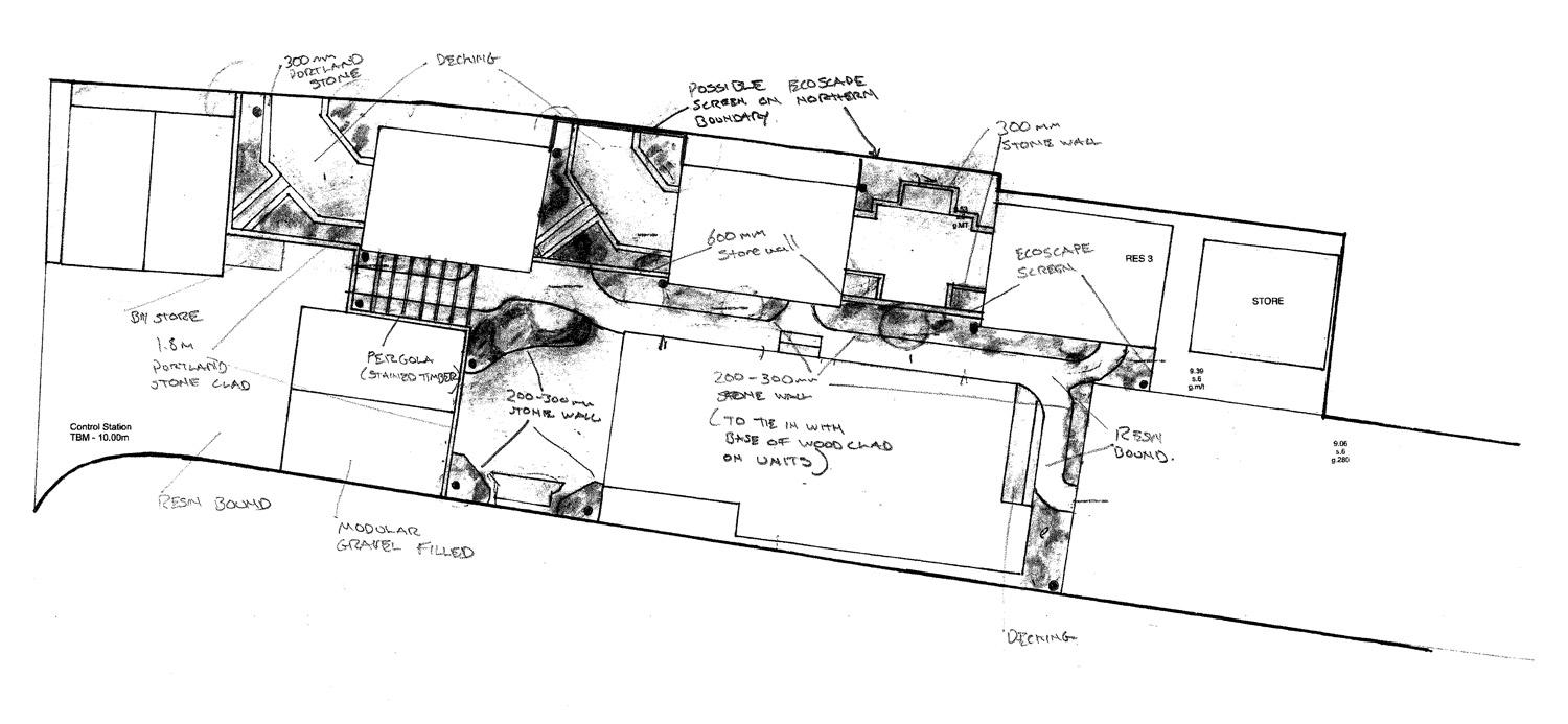 Initial drawing for development planning