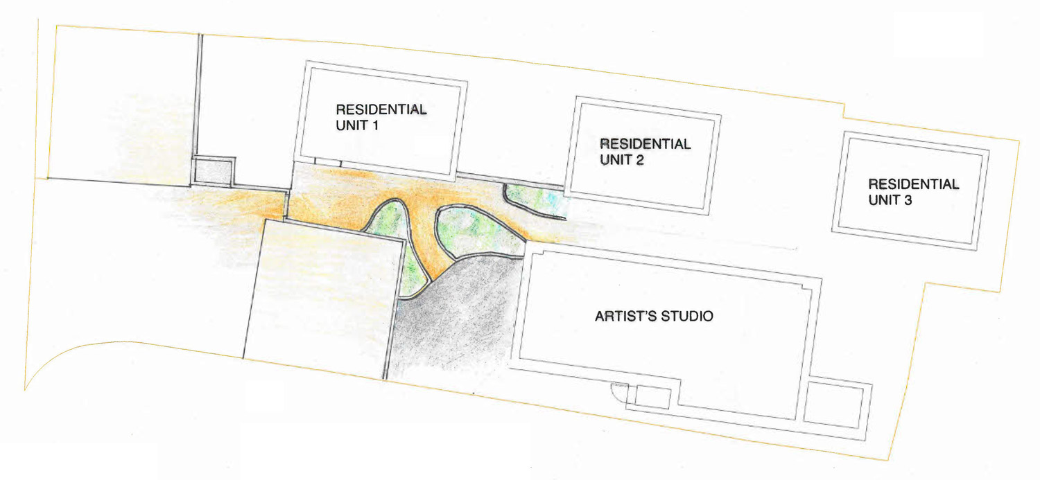 Plan drawing for landscaping