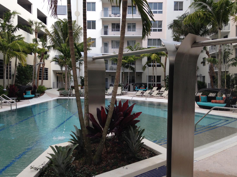 custom Y shower fountain - loftin place West palm beach designed by Gentile, Glas, O'mahoney & assoc.