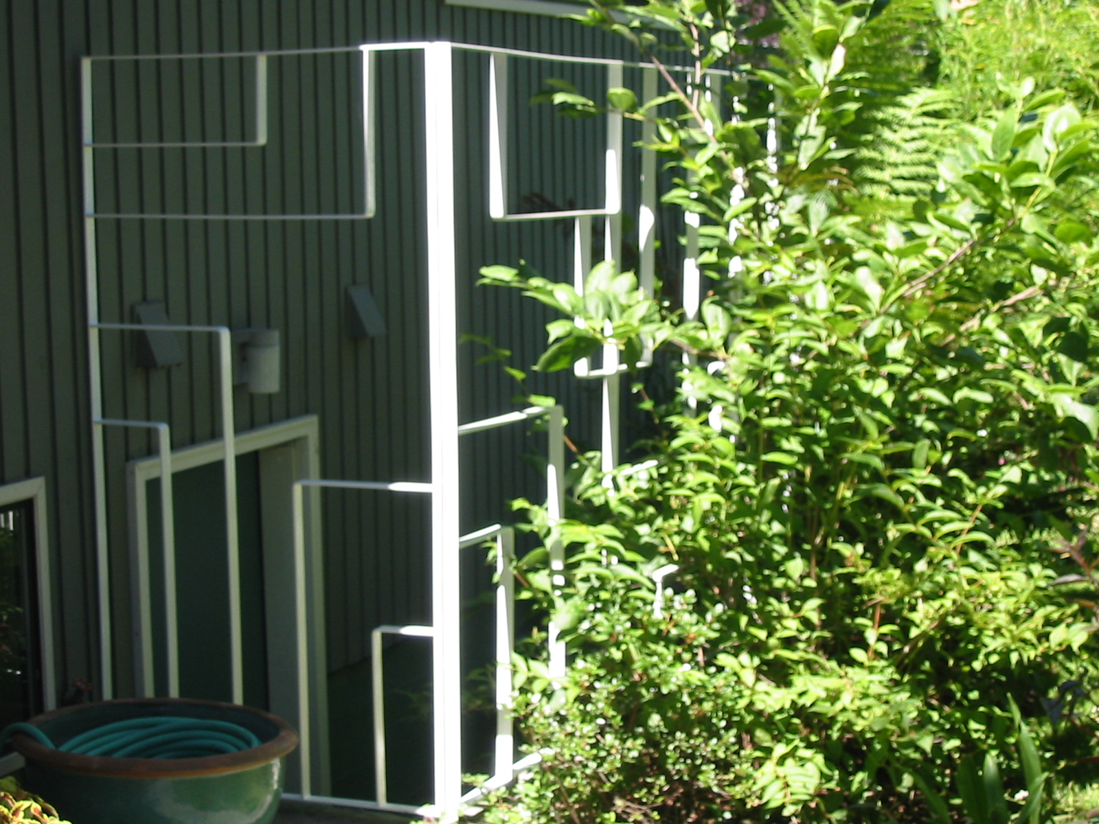 Custom decorative fence - private residence seattle