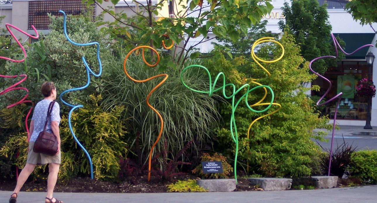 Ravenna Gardens installation, University Village shopping center, Seattle, WA.