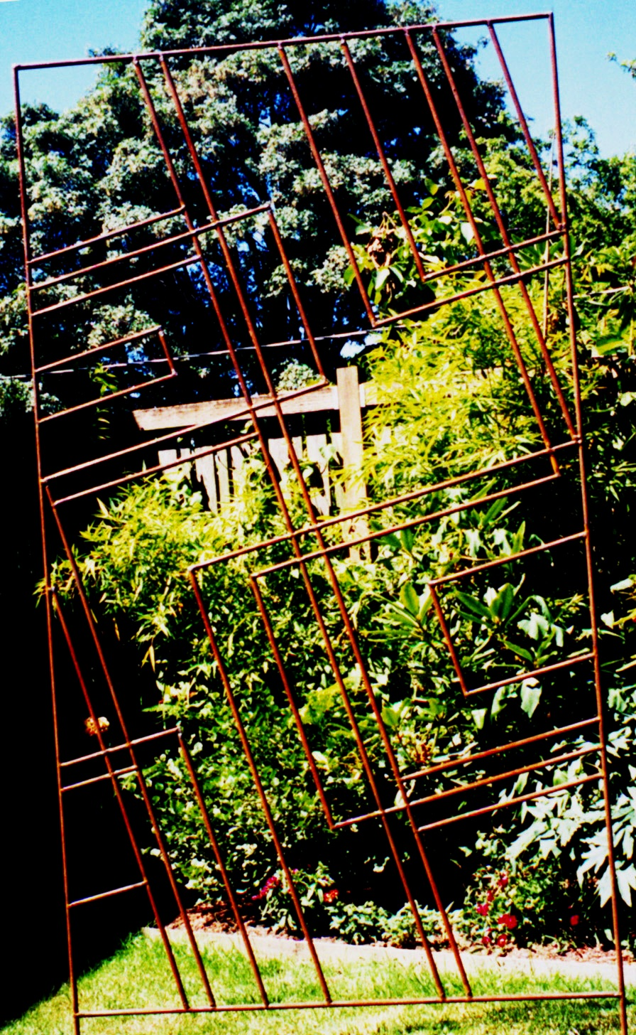 One of a series of custom modernist trellises for private residence in west seattle
