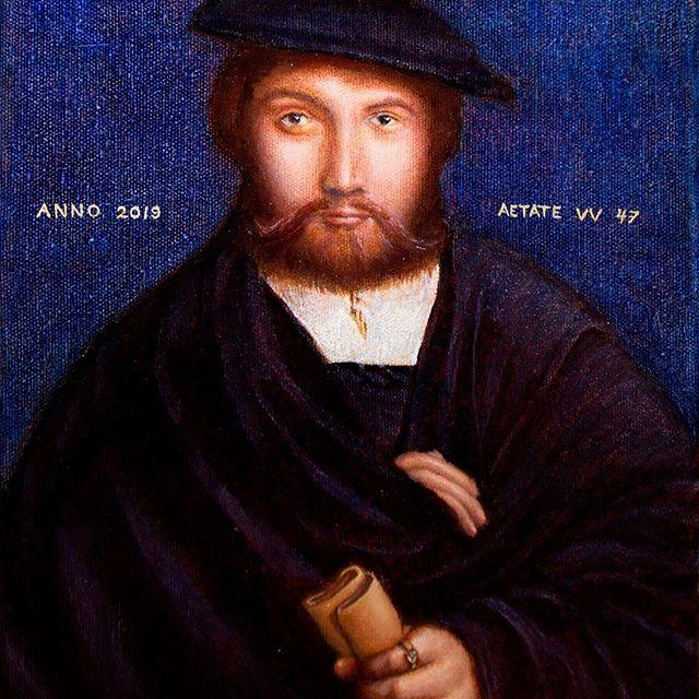 Oppilastyö vanhat maalaustekniikat kurssilta. Teoksen on maalannut Ville Vuolanto Holbeinin mukaan.  Syksyn maalauskurssille otetaan vielä muutama oppilas mukaan. Lue lisää kursseista biossani olevasta linkistä.  #tampere #taidekurssi #taidemaalaus #harrastus #öljyvärimaalaus #barokki #renessanssi #ateljeeemmimustonen #kuvataide #klassinenmaalaus #realismi