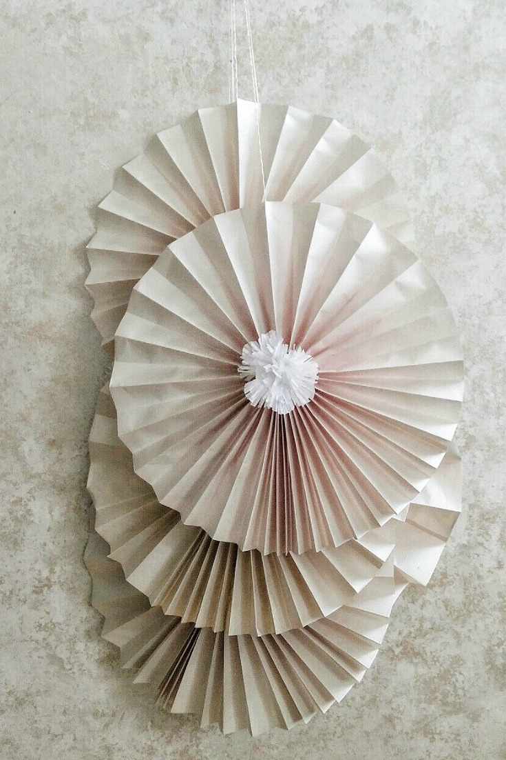Medallions - The medallions were created with single layer papers.