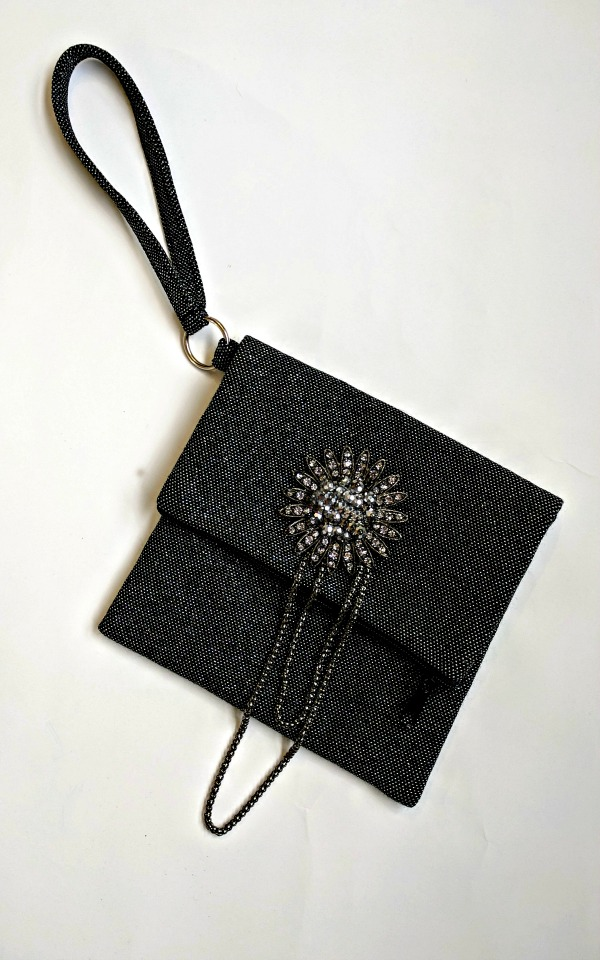 1-piece Fold Over Clutch - All prettied-up with a pendant from a broken fashion necklace