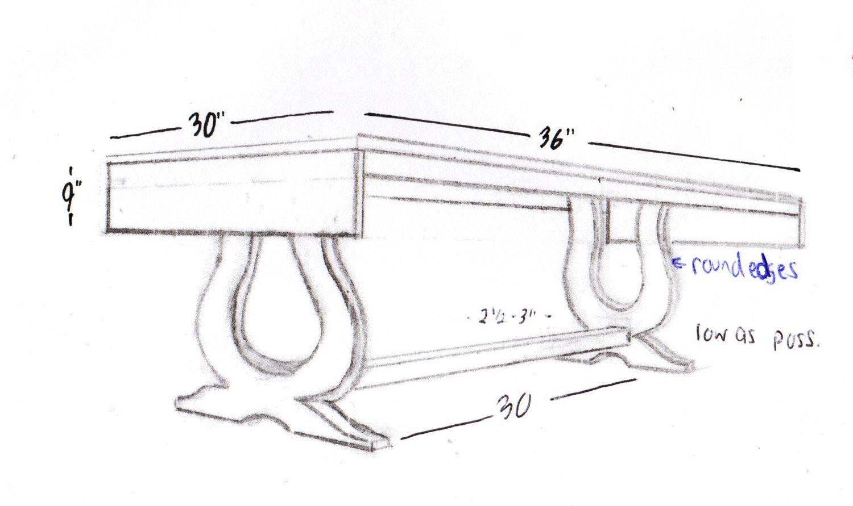 Harp Table Concept Sketch