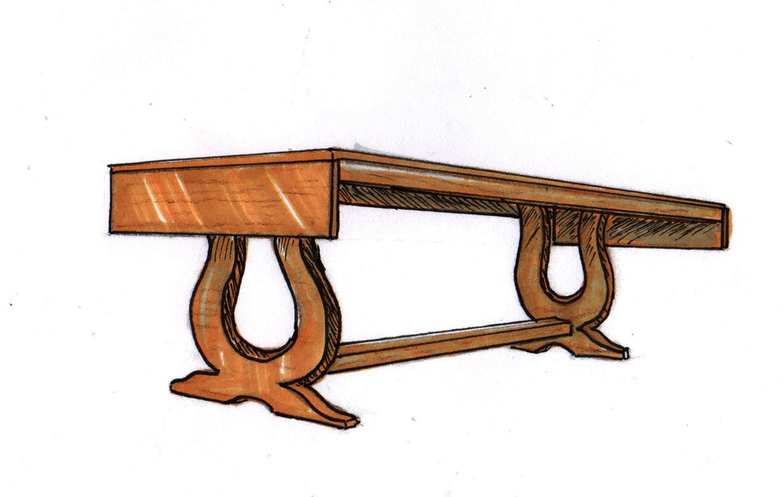 Harp Table Marker Sketch