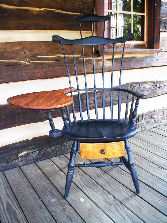 Windsor Writing Chair with Drawer