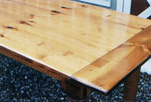 Pine Table Top with Breadboard