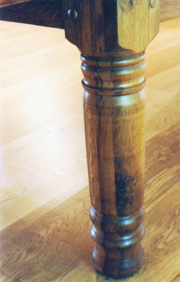 Reclaimed Oak Turned Legs