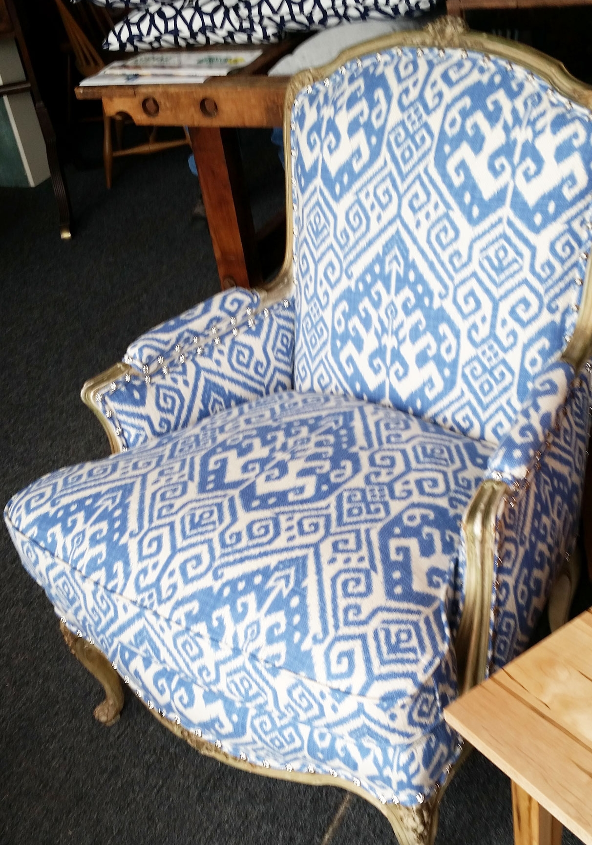 Geometric Club Chair