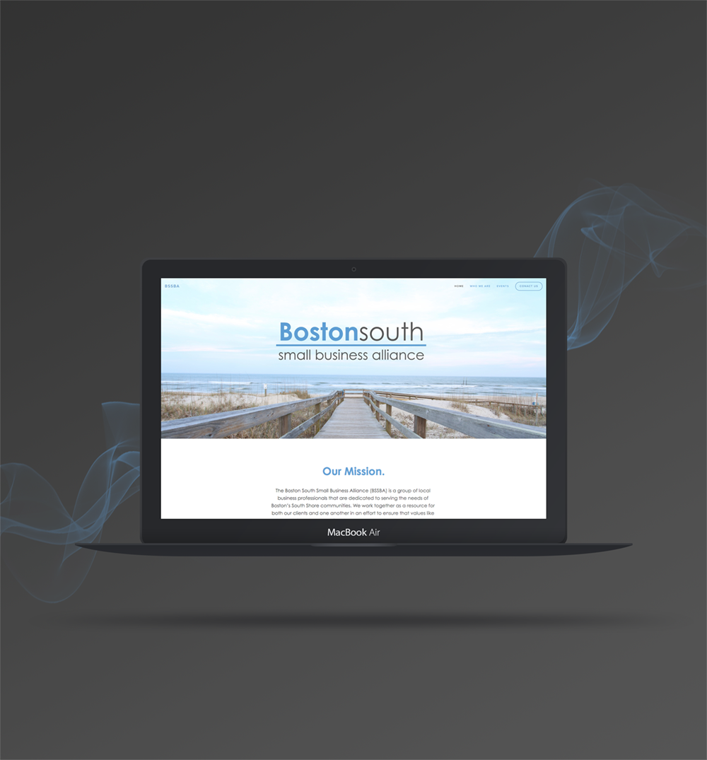 Website design for Boston South Small Business Alliance -  click  to see whole design