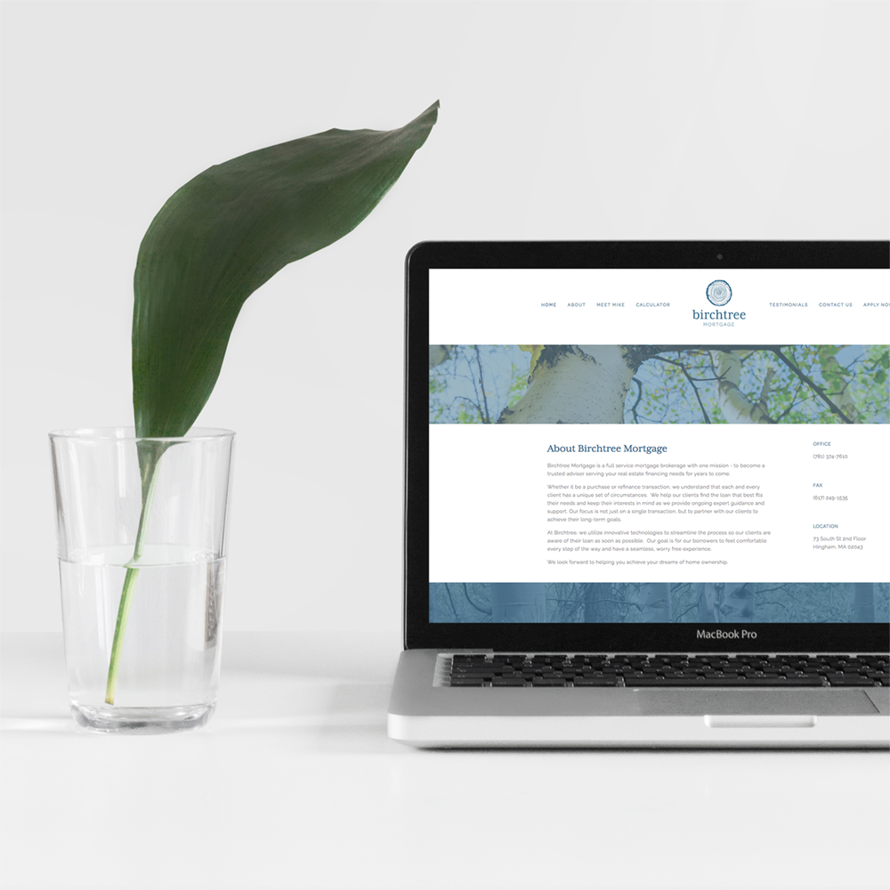 Website design for Birchtree Mortgage -  click  to see whole design