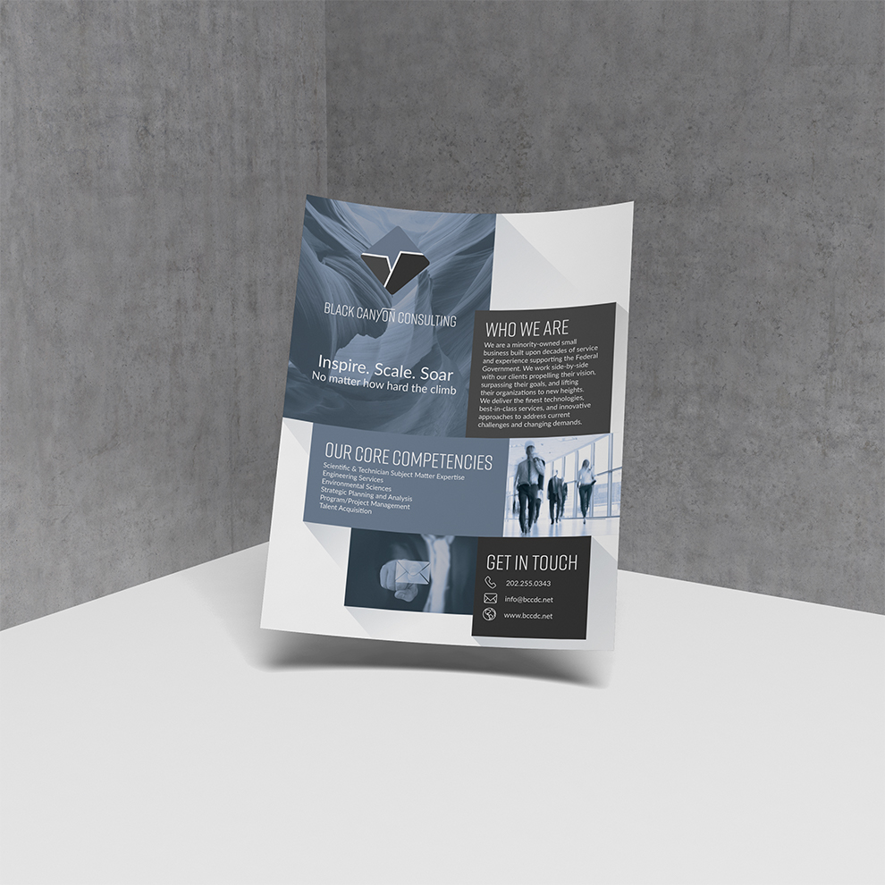 Flyer design for Black Canyon Consulting