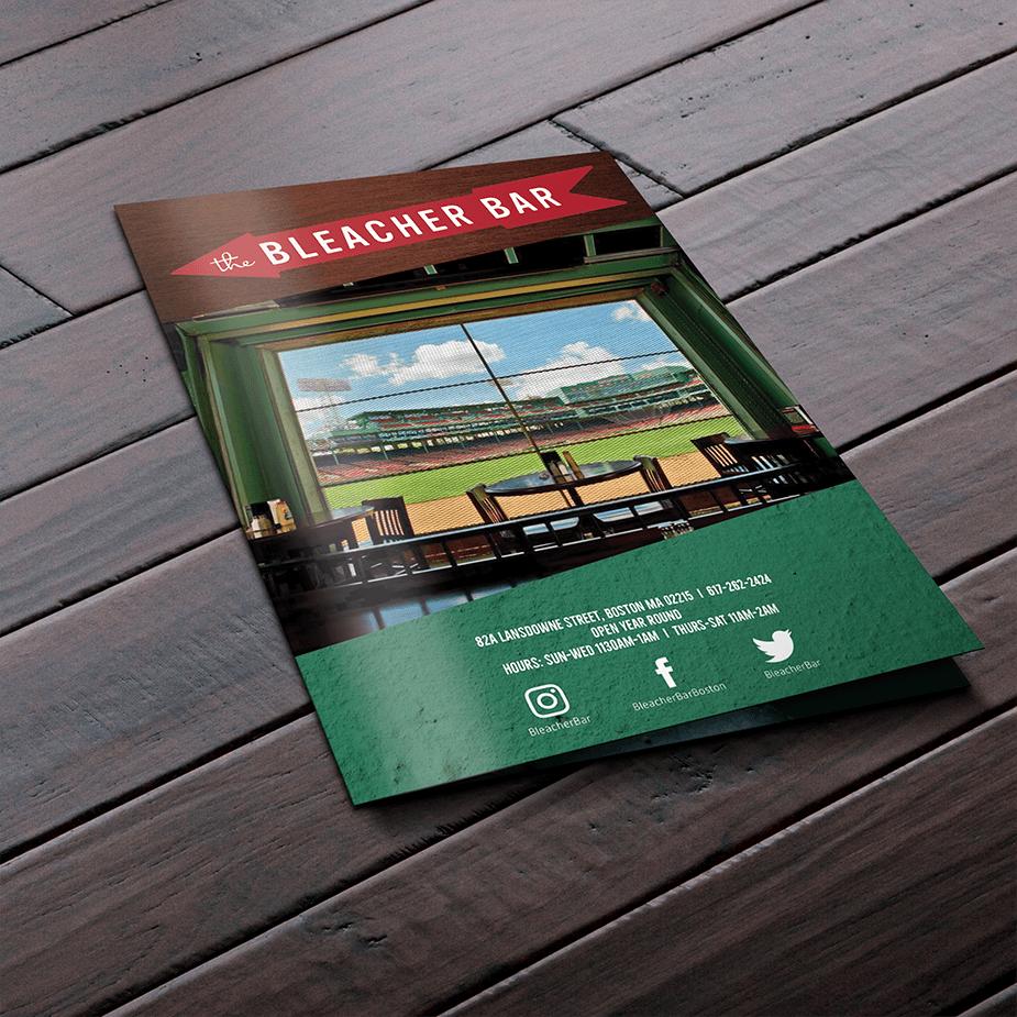 Special events brochure for Bleacher Bar