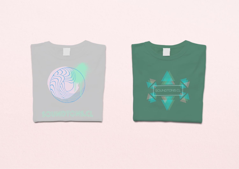Shirt design for Soundtons, an EDM label