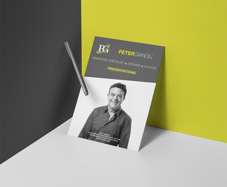 Brochure for Peter Gianoli