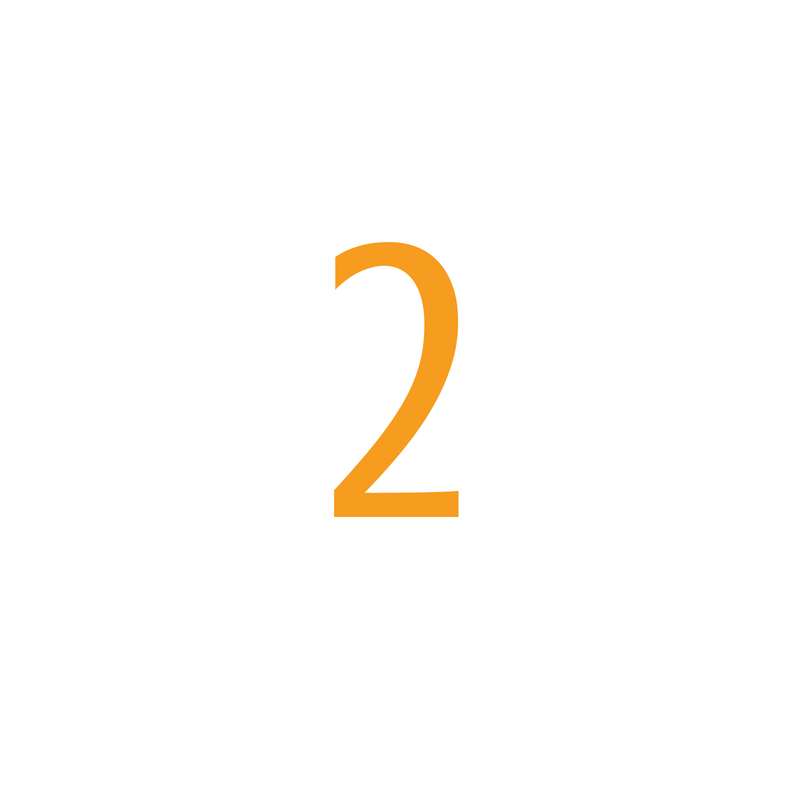 The number two, describing the second step in using Optimize Hire Pre-Employment Tests to hire better performing employees.