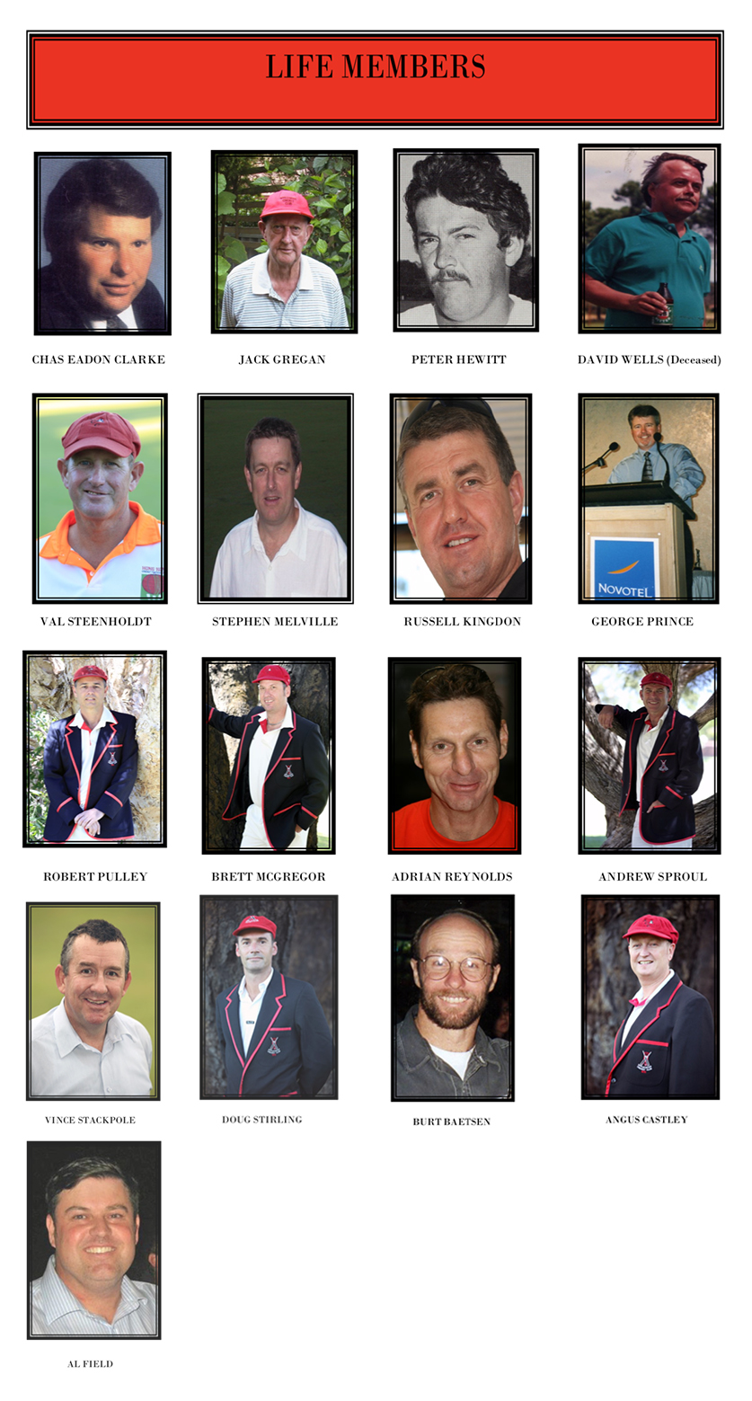 ACC LIFE MEMBERS - At the ACC we take great pride in our history and the 17 men listed to the left have shaped our great club both on and off the field. Al 'Cheese Field was the last man inducted on presentation night 2018/19.