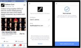 Gather leads without customers having to leave Facebook