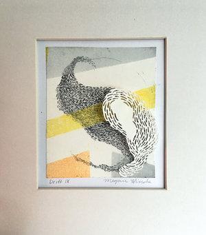 "Drift XIX   Monotype, copper etching, hand cut paper  8"" x 10"" x 2""   SOLD"