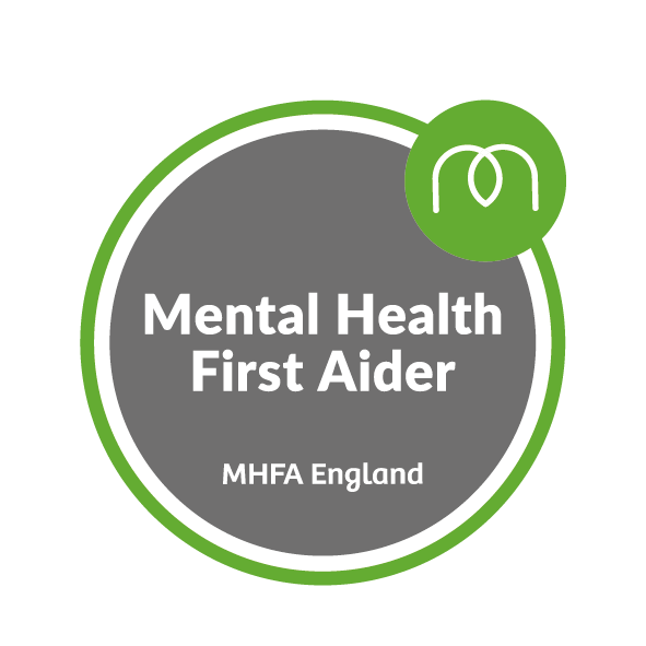 MHFA_Mental Health First Aider Badge - life coach bedfordshire