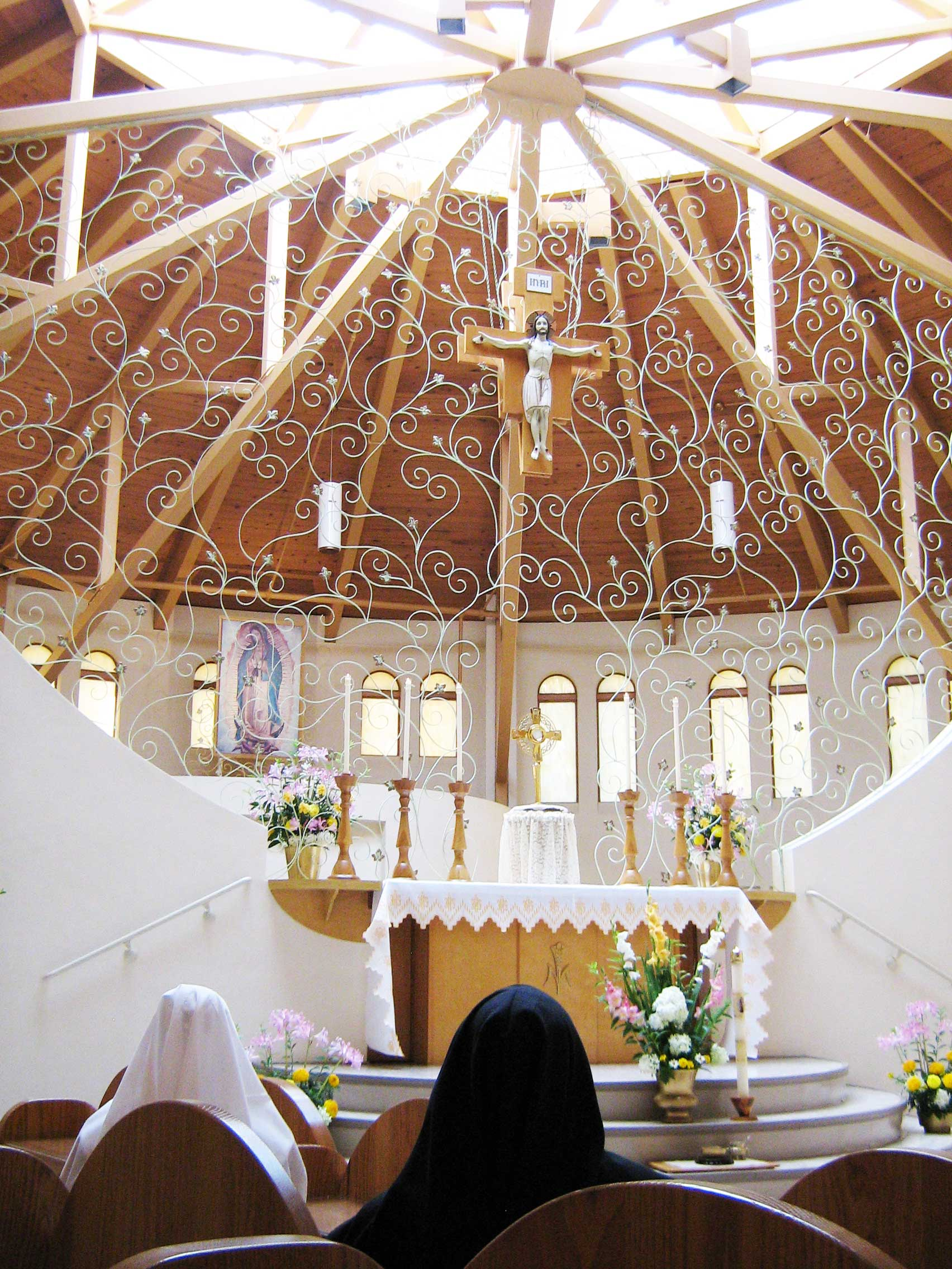 "Poor Clare Nuns of Belleville, IL - A ""Grill"" of Vines in the Chapel"