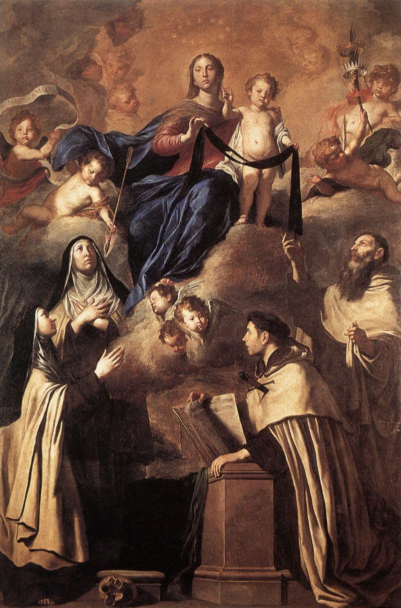 Our Lady of Mount Carmel with Carmelite Saints