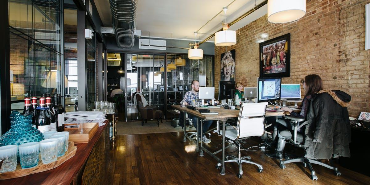 Das WeWork Office im New Yorker Meatpacking District - eine von 54 Locations in der Stadt
