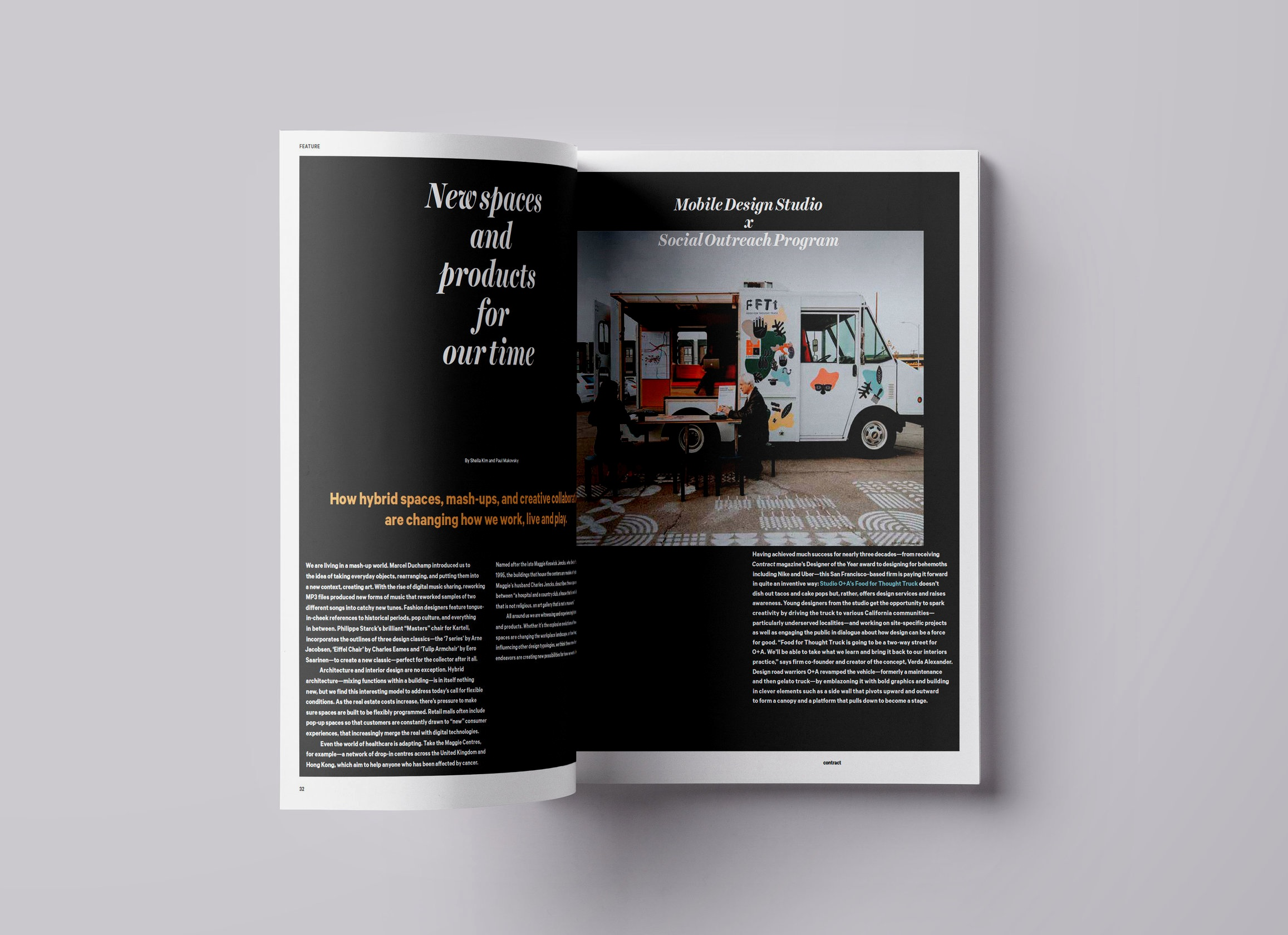 Food For Thought Truck, Mobile Design Studio and Social Outreach Program By Studio O+A - Contract Magazine