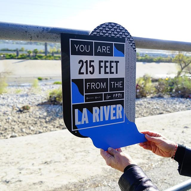 Yay! First view of the #lariver! Only 215 feet! Enjoy the view with us and dream at the @spokebicyclecafe.