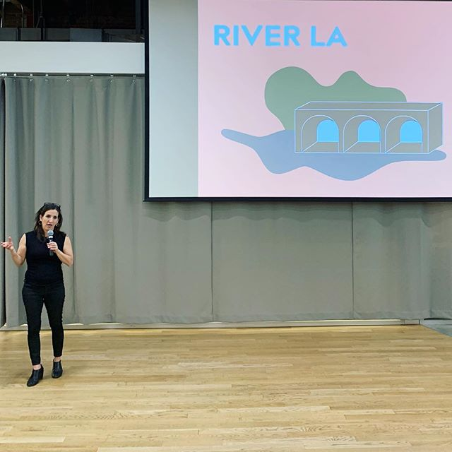 @verdaalexander is presenting the Food for Thought Truck at the @LACI and the LA River project. Thank everyone for joining this celebration of River city and the bright future ahead ☀️