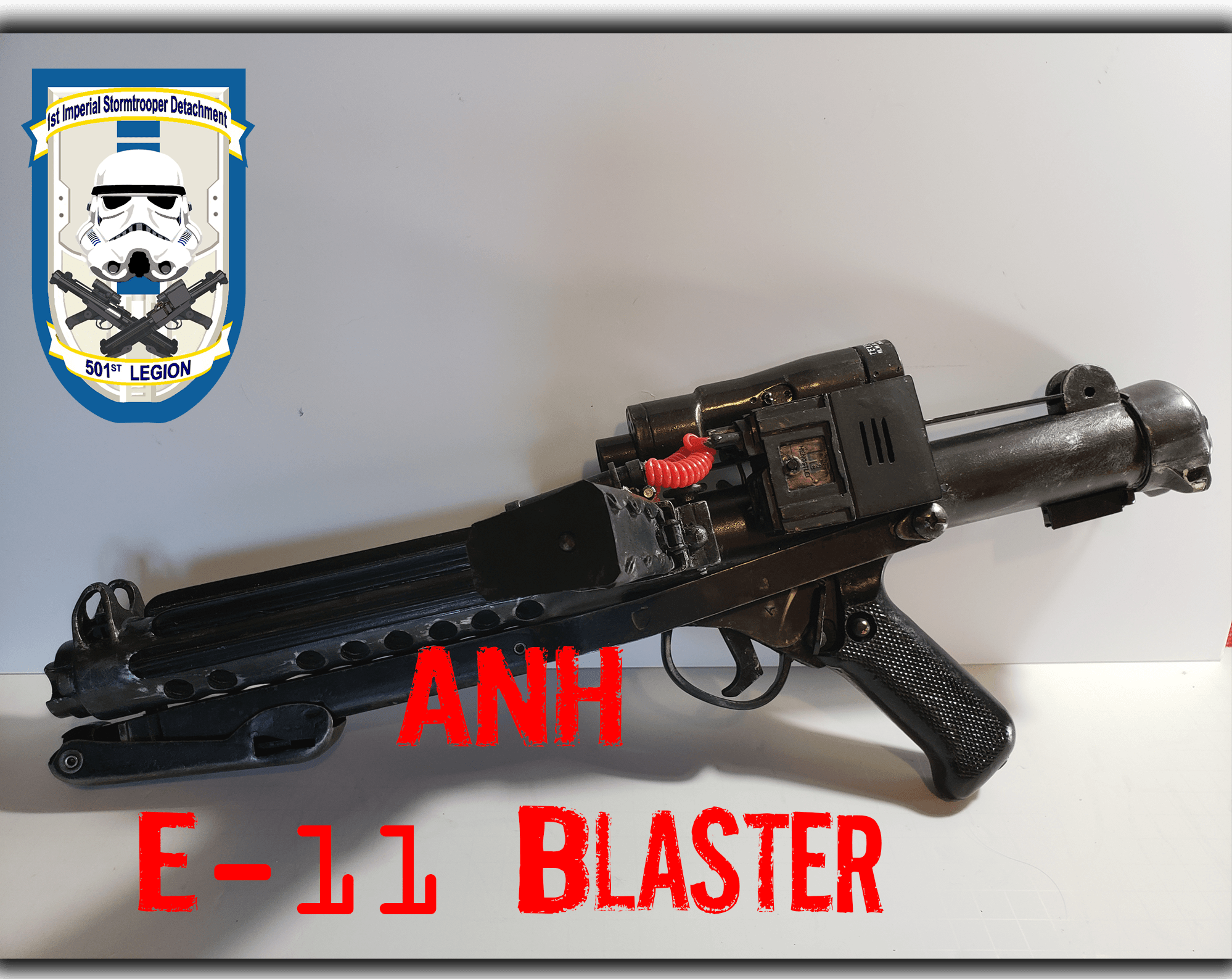 ANH E-11 Blaster - Doopy Doos Resin KitVintage Sterling folding stock & end sightTRamp BlastFX and Scope electronics