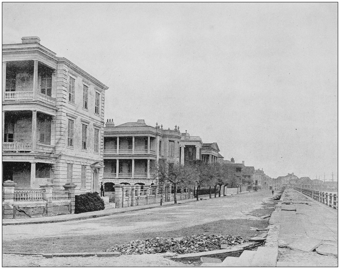 Antique Photograph of Charleston, SC's waterfront