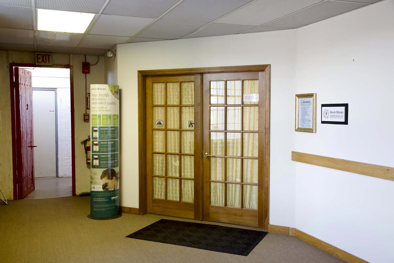 Find these Double Doors at the End of Hall.