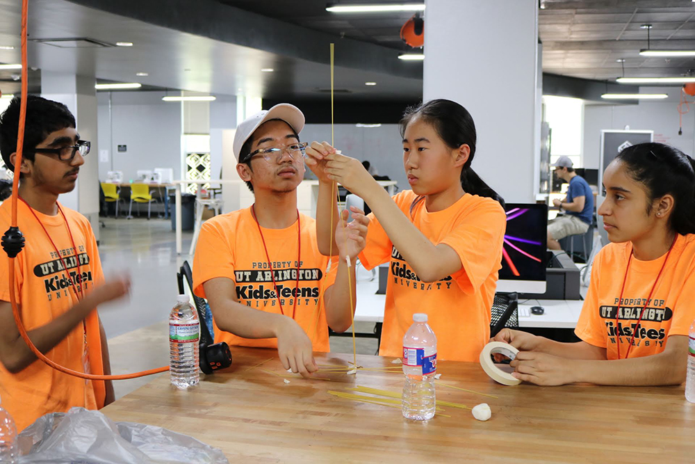 YOUTH ENTREPRENEUR CAMP - UTA has partnered with TechFW to put together a week long camp for kids grade 8-12 to learn more about entrepreneurship. They are introduced to product development, developing a business plan, and basic business principles. The kids get to work and learn at the Startup Lounge and even get a chance to utilize the innovative equipment at the UTA FabLab.