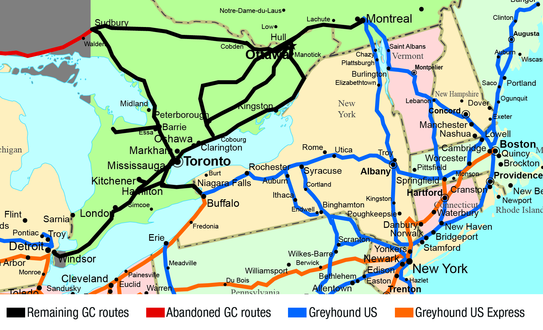 Greyhound Canada Route Map Ontario — Greyhound Canada News