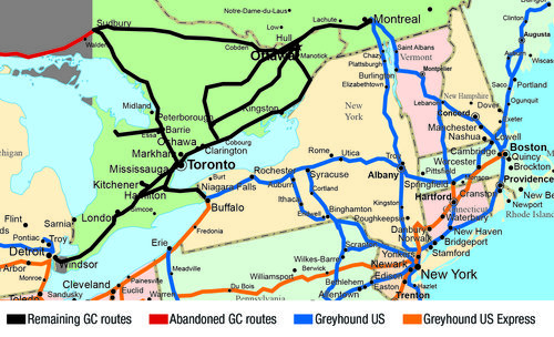 Greyhound Route Map Canada Ontario — Greyhound Canada News