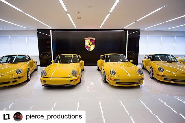 #Repost @pierce_productions • • • • • • A #porsche #964rs38 and #993gt2 tucked between a #993turbos and #993rs 🤩