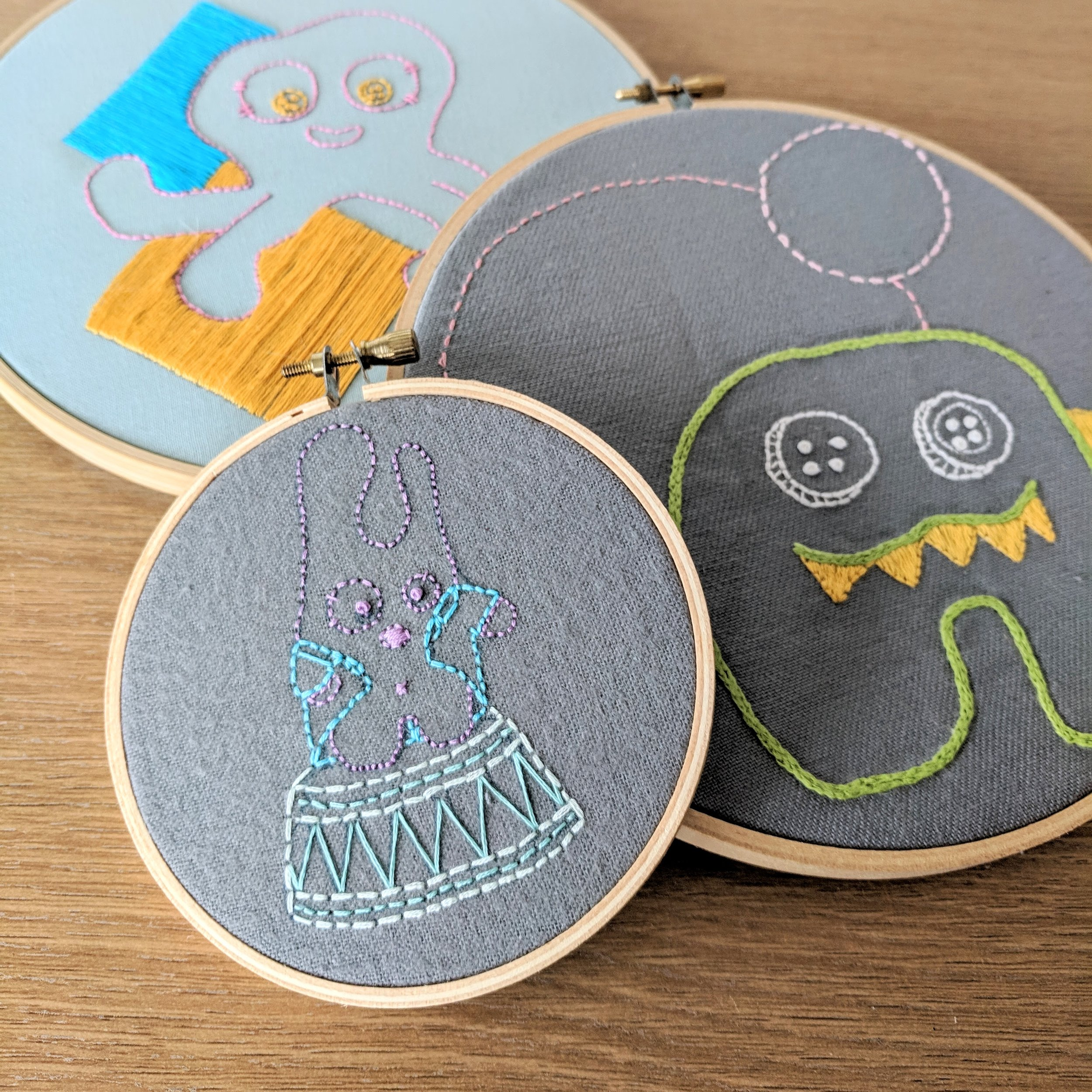 More to learn! - Transferring PatternsBasic StitchesFinishing your hoop