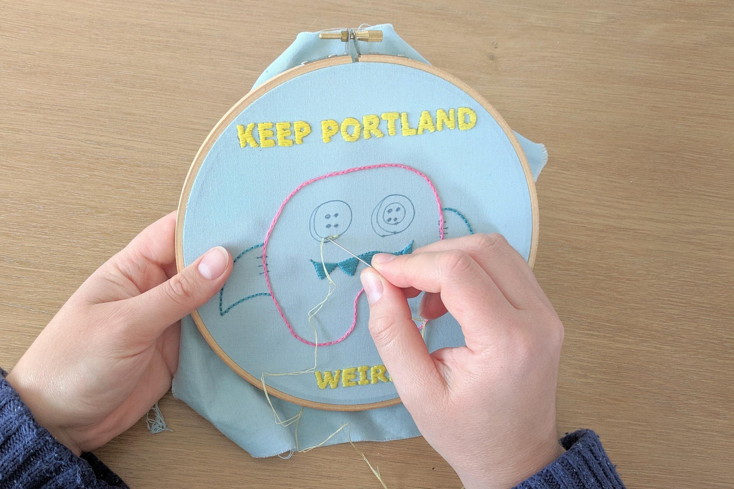 Keep Portland Weird Embroidery
