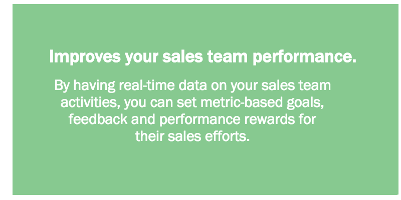Improves your sales team performance.