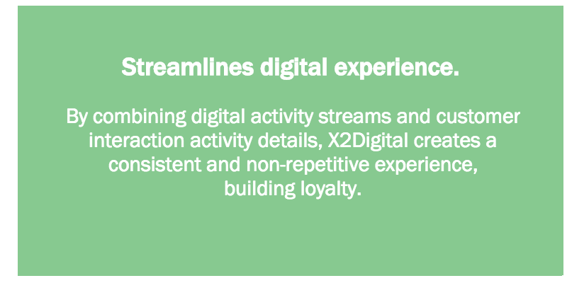 Streamlines digital experience.